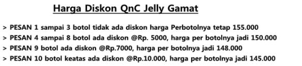 Harga Diskon QnC Jelly Gamat